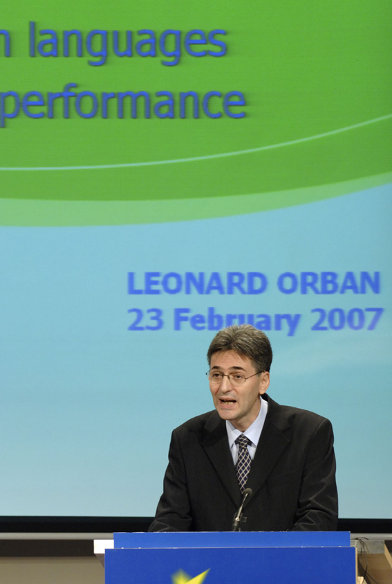 Press conference by Leonard Orban, Member of the EC, on the EU political agenda for multilingualism