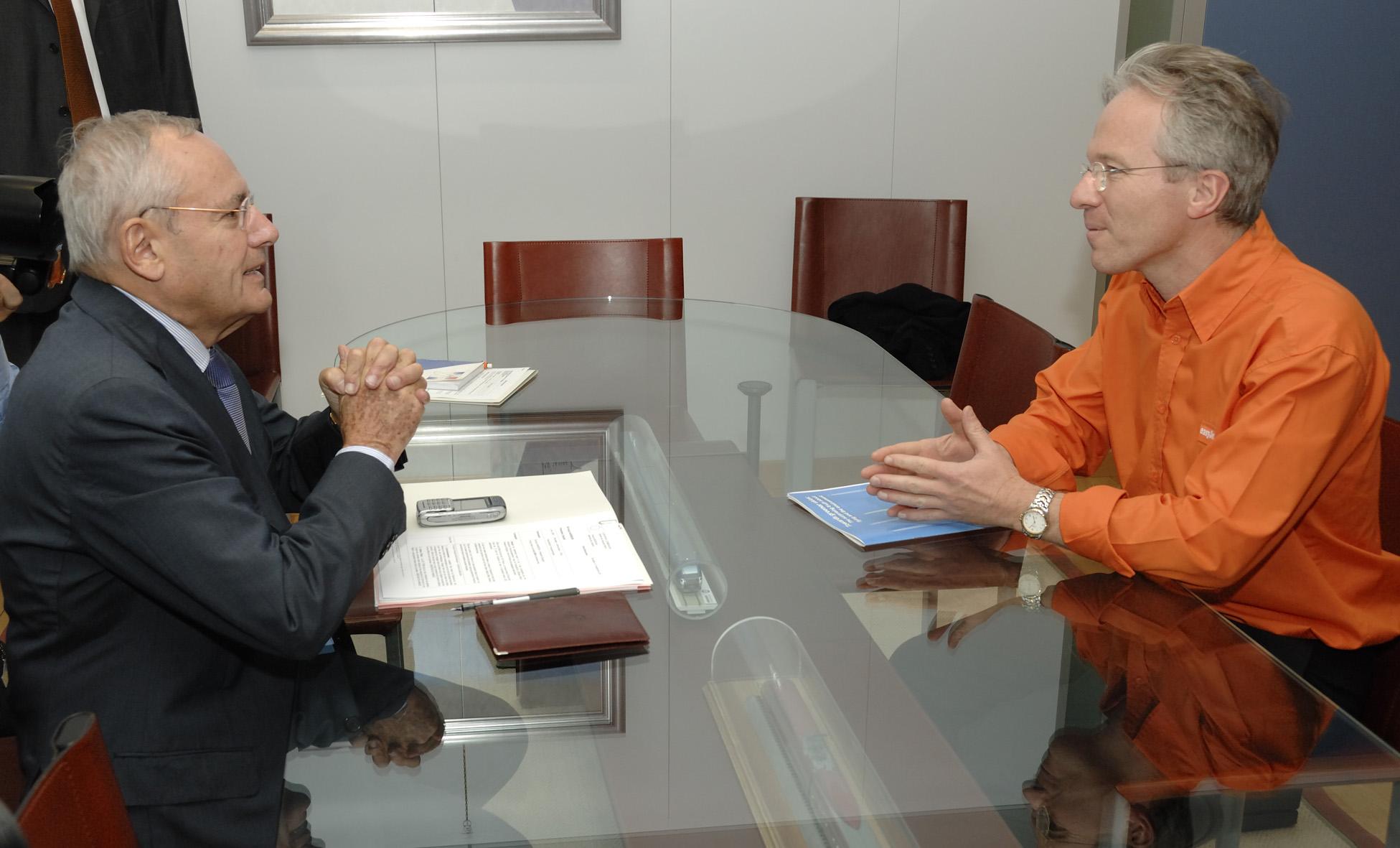 Visite de Andrew Harrison, directeur général d'EasyJet à la CE