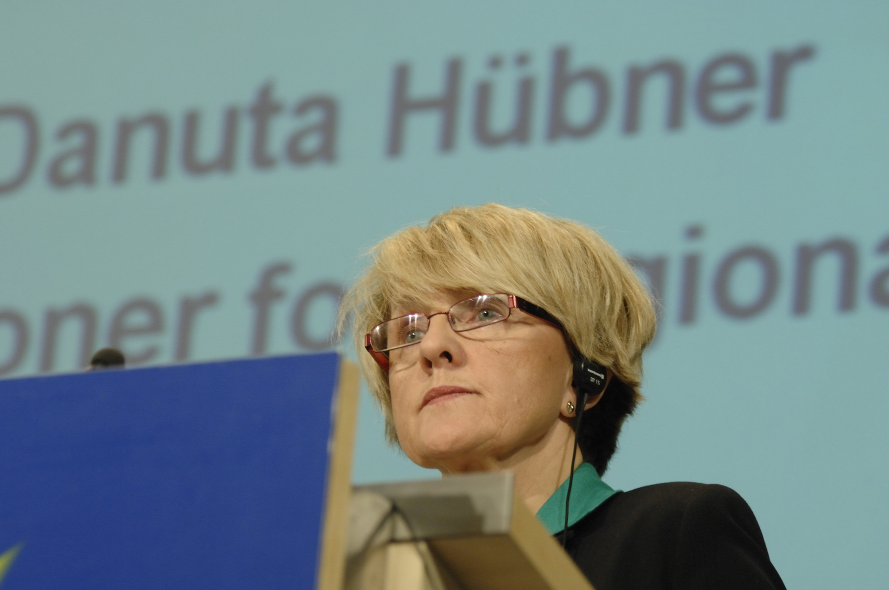 Press conference by Danuta Hübner on the Cohesion policy budget execution for 2007