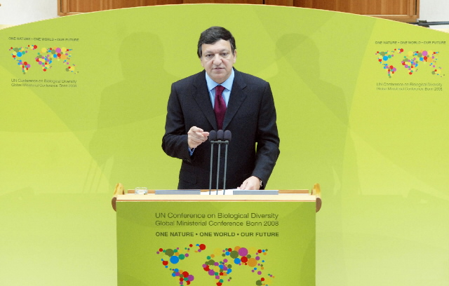 Participation of José Manuel Barroso, President of the EC, in the UN Conference on Biodiversity organized by the German Government