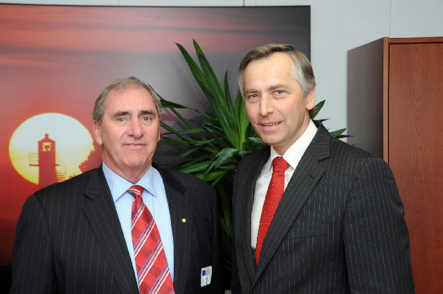 Visit by John Fahey, Chairman of the World Anti-Doping Agency, to the EC