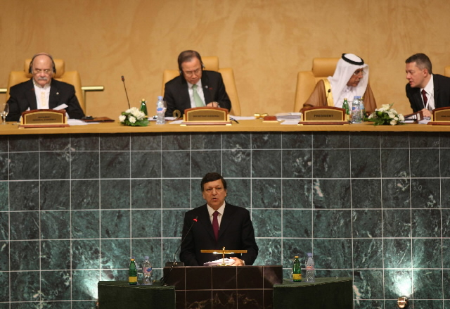 Participation of José Manuel Barroso, President of the EC, in the conference on financing the Doha Development