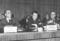 Emilio Colombo, David Owen and Roy Jenkins (from left to right)