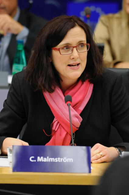 Hearing of Cecilia Malmström, Member designate of the EC, at the EP