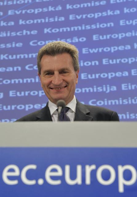 Press conference by Günther Oettinger, Member of the EC, on the EU Economic Recovery Plan