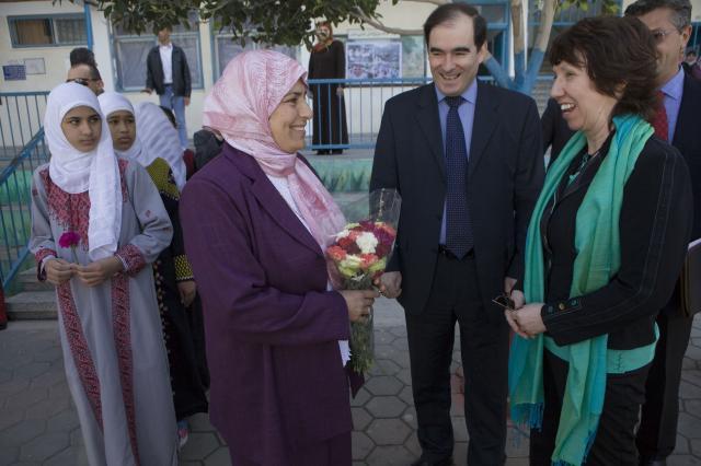 Visite de Catherine Ashton, haut représentant de l'Union pour les affaires étrangères et la politique de sécurité et vice-présidente de la CE, à Ramallah et Jérusalem