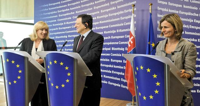 Visite d'Iveta Radičová, Première ministre slovaque, à la CE