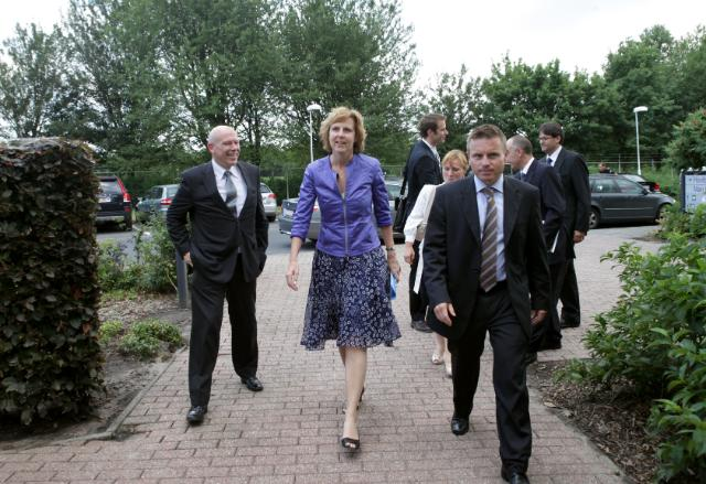 Visit of Connie Hedegaard, Member of the EC, to the CO2-neutral Volvo Europa Truck Plant in Ghent