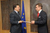Presentation of the credential of the Head of Mission of Ukraine to José Manuel Barroso, President of the EC