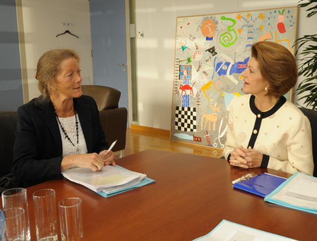 Visit of Eva Srejber, Vice-President of the EIB, to the EC