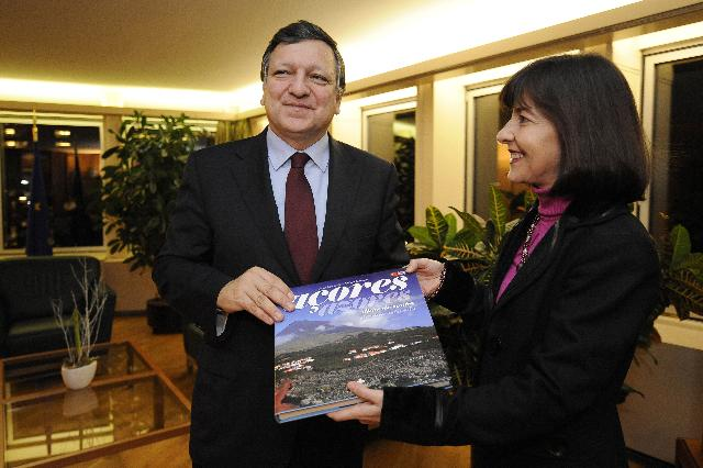 Meeting between José Manuel Barroso, President of the EC, and Maria do Céu Patrão Neves, Member of the EP