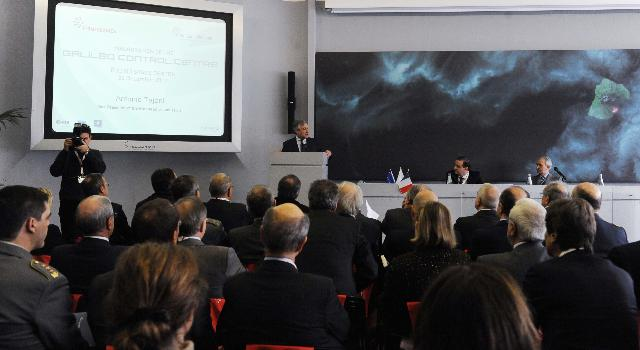 Inauguration of the Galileo Control Centre in Fucino, by Antonio Tajani, Vice-President of the EC