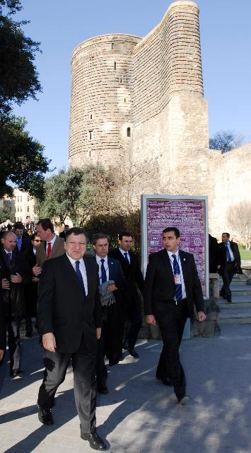 Visite de José Manuel Barroso, président de la CE, en Azerbaïdjan