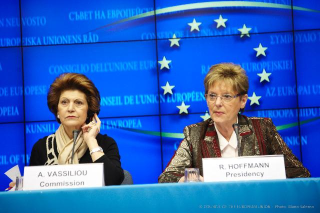 Joint press conference by Androulla Vassiliou, Member of the EC, and Rózsa Hoffmann, Hungarian Junior Minister for Education