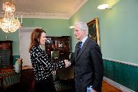 Visite de Michel Barnier, membre de la CE, en Finlande