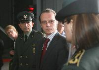 Visit of Algirdas Šemeta, Member of the EC, to the Panemunė border inspection post, between Lithuania and Russia