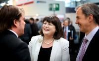 Visit of Máire Geoghegan-Quinn, Member of the EC, to the 2013 Hanover Fair