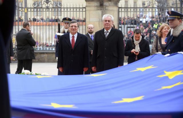 Visite de José Manuel Barroso, président de la CE, en République tchèque
