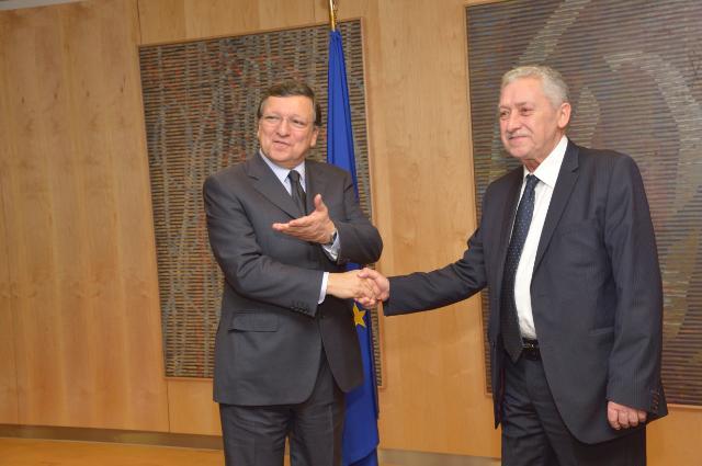 Visite de Fotis Kouvelis, leader du parti grec de la Gauche démocratique, à la CE