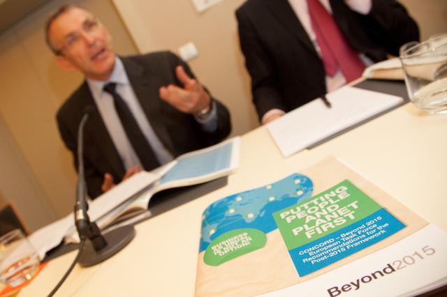 Launch of the position paper of the European taskforce of Concord and the Beyond 2015 campaign