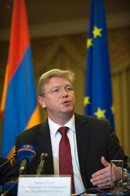 Visite de Štefan Füle, membre de la CE, en Arménie