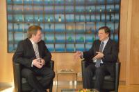 Visite de Sigmundur Davíð Gunnlaugsson, Premier ministre islandais, à la CE