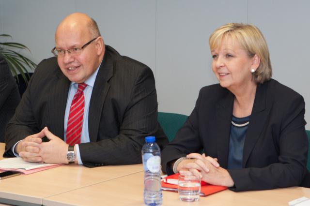 Visit of Hannelore Kraft, Minister-President of the Land of North Rhine-Westphalia, and Peter Altmaier, German Federal Minister for the Environment, Nature Conservation and Nuclear Safety, to the EC