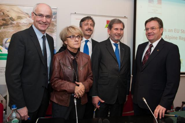 Participation of Johannes Hahn, Member of the EC, in the launch of the Alpine strategy