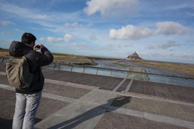 Le rétablissement du caractère maritime du Mont-Saint-Michel, France