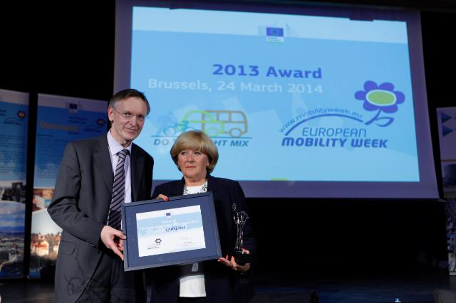 2013 Sustainable Urban Mobility Awards ceremony and the European Mobility Week Award