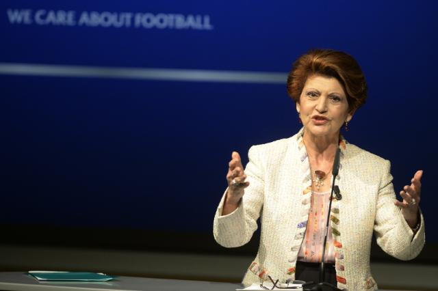 Visit of Androulla Vassiliou, Member of the EC, to the headquarters of the UEFA in Nyon