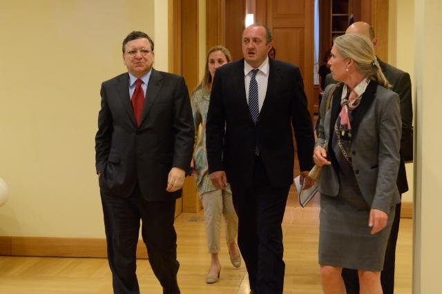 Visit of José Manuel Barroso, President of the EC, and Štefan Füle, Member of the EC, to Georgia