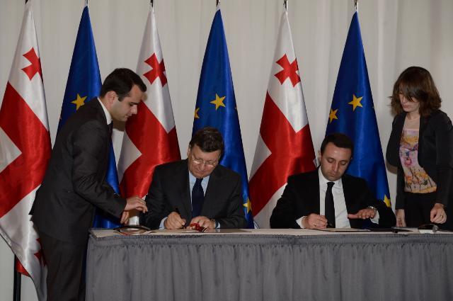 Visite de José Manuel Barroso, président de la CE, et Štefan Füle, membre de la CE, en Géorgie