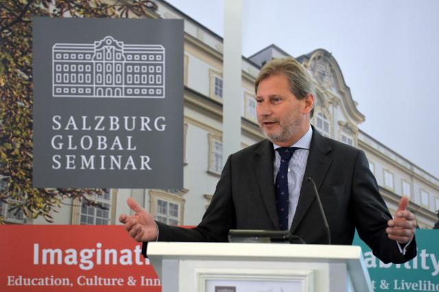 """Urban Policy is at the top of our agenda – and it will stay there"", says Commissioner Hahn at the Salzburg Global Seminar"