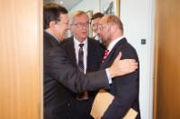 Meeting between Martin Schulz, President of the EP, José Manuel Barroso, President of the EC, and Jean-Claude Juncker, President-elect of the EC