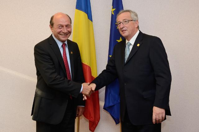 Meeting between Traian Băsescu, President of Romania, and Jean-Claude Juncker, President-elect of the EC