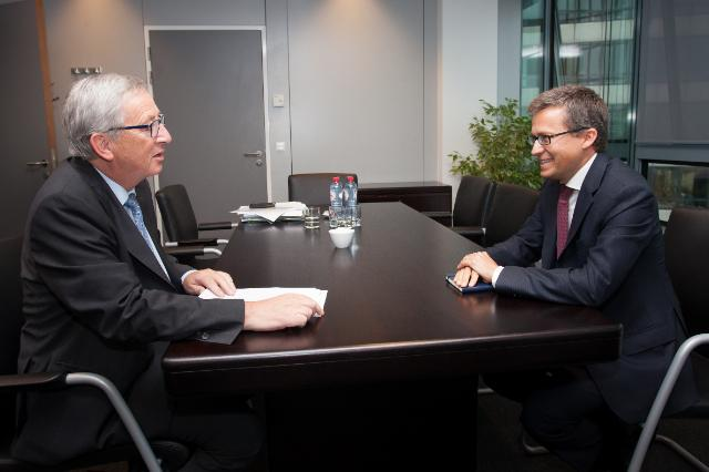 Meeting between Carlos Moedas, Portuguese Secretary of State to the Prime Minister, and Jean-Claude Juncker, President-elect of the EC