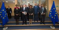 """Illustration of """"Visit of Representatives from Portuguese-speaking countries to the EC"""""""
