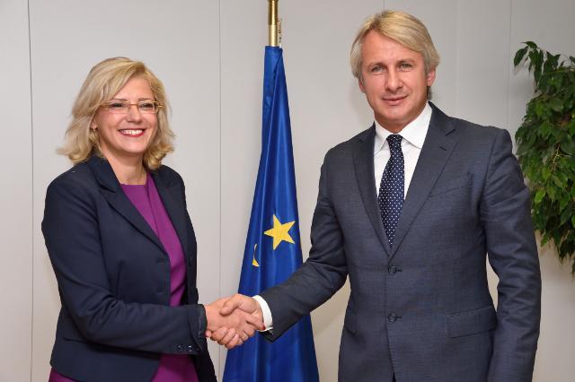 Visite d'Eugen Orlando Teodorovici, ministre roumain des Fonds européens, à la CE