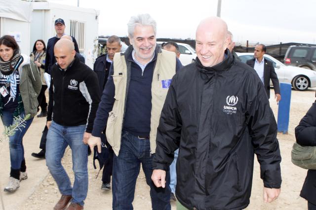 Visite de Christos Stylianides, membre de la CE, en Jordanie