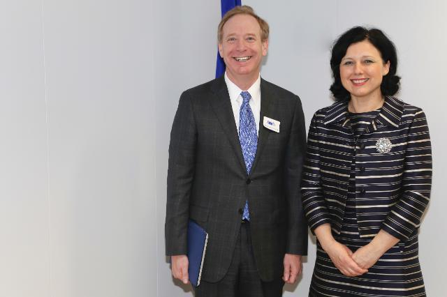 Visite de Brad Smith, vice-président chargé des Affaires juridiques et corporatives et directeur des Affaires juridiques de Microsoft, à la CE