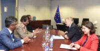 """Illustration of """"Visit of Anil Gayan, Mauritian Minister for Health and Quality of Life, to the EC"""""""