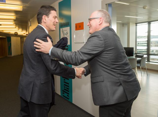 """Illustration of """"Visit of David Miliband, President and CEO of the International Rescue Committee, to the EC"""""""