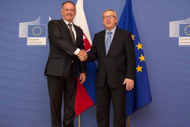 "Illustration of ""Visit of Andrej Kiska, President of Slovakia, to the EC"""