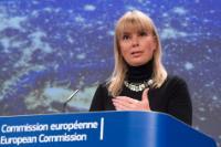 Conférence de presse d'Elżbieta Bieńkowska, membre de la CE, sur le lancement de deux satellites Galileo