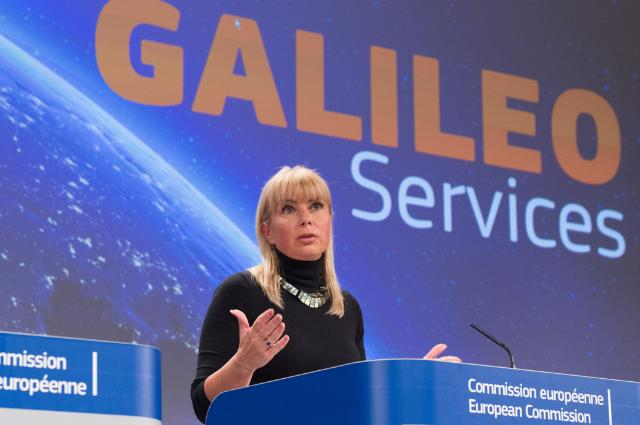 "Illustration of ""Press conference by Elżbieta Bieńkowska, Member of the EC, on the  launch of two Galileo satellites"""