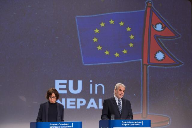 Conférence de presse de Christos Stylianides, membre de la CE, sur la situation au Népal