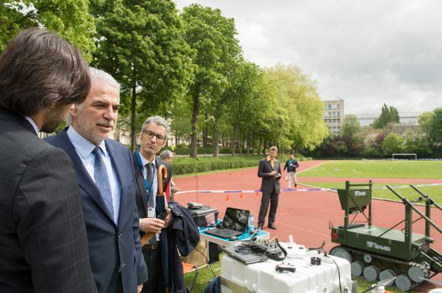 Demonstration of drones used in emergencies, with the participation of Christos Stylianides, Member of the EC