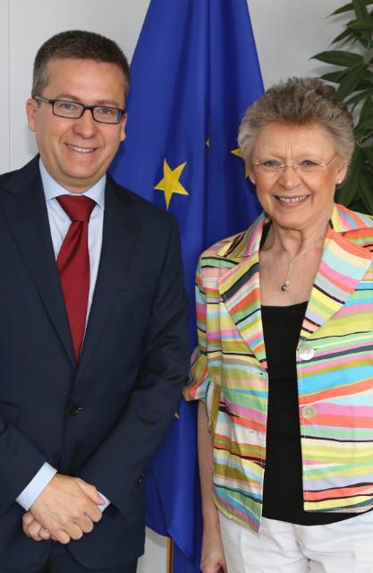Visite de Françoise Barré-Sinoussi, présidente sortante de l'International AIDS Society, à la CE