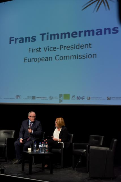 Frans Timmermans participates in the conference 'New Pact for Europe'